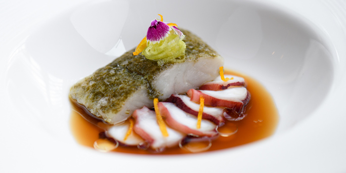 Signature Dish from Elements at The Okura Prestige Bangkok Hotel 57 Witthayu Rd, Lumphini, Pathum Wan Bangkok