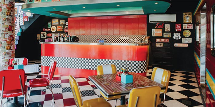 First Floor Seating 1 at Cosmic Diner Sanur Arcade