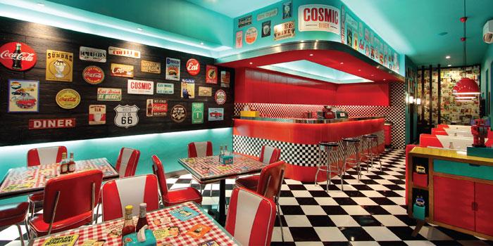 Interior 1 at Cosmic Diner, Sunset Star
