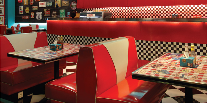Interior 2 at Cosmic Diner, Sunset Star