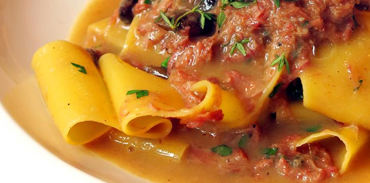 Homemade Pappardelle with white Ragout of Veal Ossobuco, Joia, Tsim Sha Tsui, Hong Kong