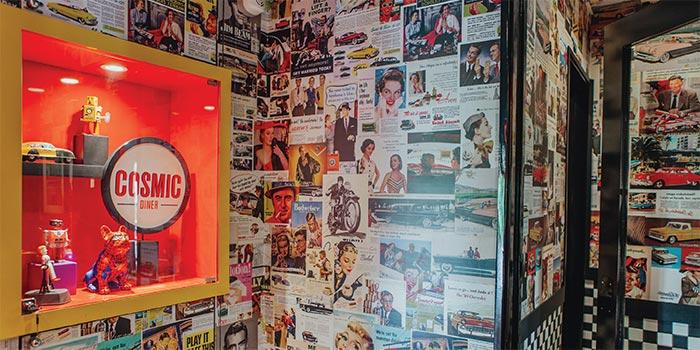 Wall Decoration at Cosmic Diner Sanur Arcade