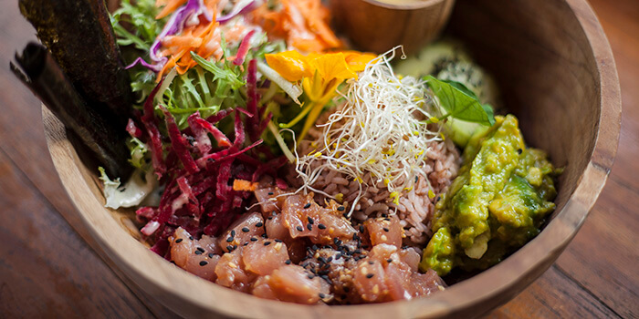 Food from Beach Garden In The Raw Bali
