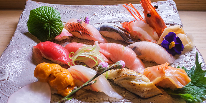 Assorted Sushi Plate from MAI by Dashi Master Marusaya in Outram, Singapore