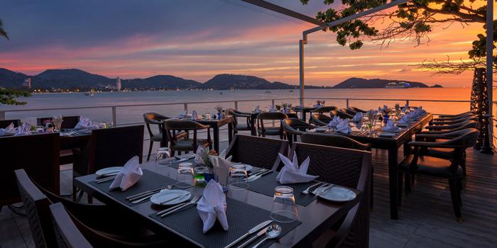 Sunset of White Box Restaurant in Patong, Kathu, Phuket, Thailand