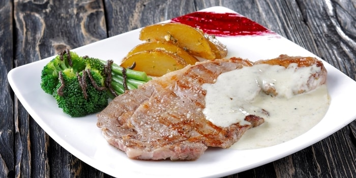 Beef Entrecote at Plan B in Red & White Gandaria City