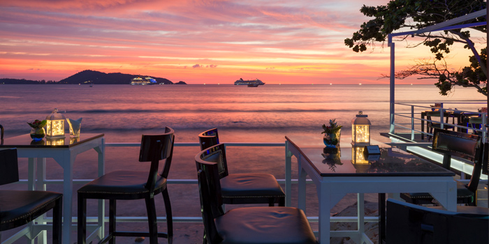 Beach Side from White Box Restaurant in Patong, Kathu, Phuket, Thailand