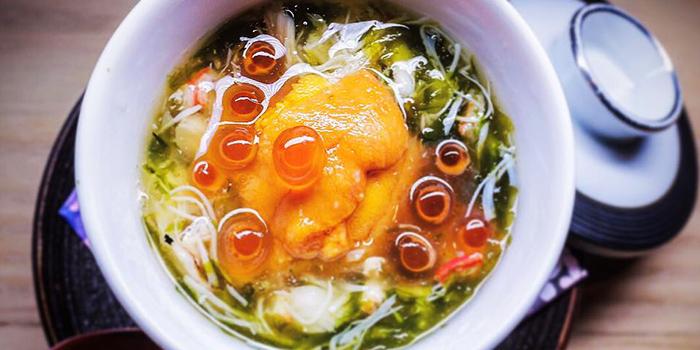 Chawanmushi with Sea Urchin & Ikura from MAI by Dashi Master Marusaya in Outram, Singapore