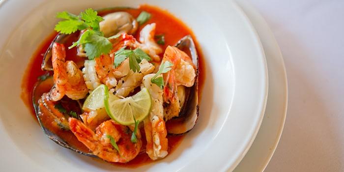 Food from Samudera Restaurant, Kuta, Bali