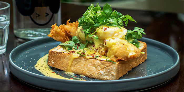 Dory Benedict at Plunge Dining & Co