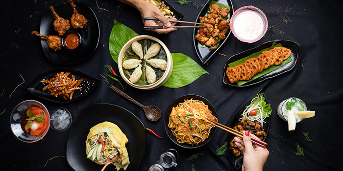 Food Spread from 79 After Dark in Boat Quay, Singapore