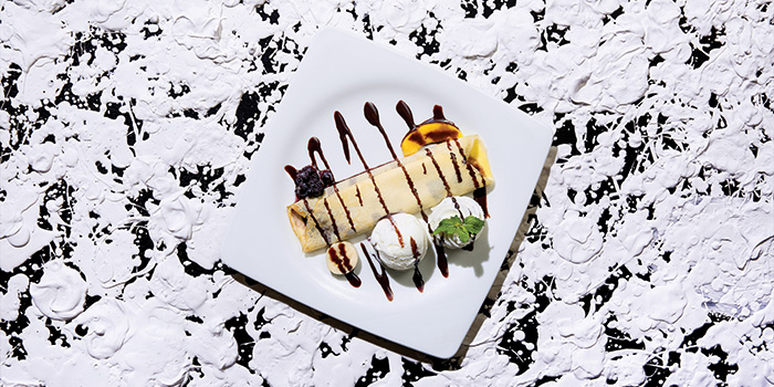 Fruit Crepe with Fresh Cream with Ice cream, Greyhound Cafe (Elements), Tsim Sha Tsui, Hong Kong
