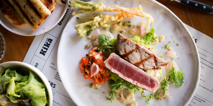 Grilled Tuna from Kika Kitchen & Bar at 14 Convent Rd, Silom, Bang Rak, Bangkok