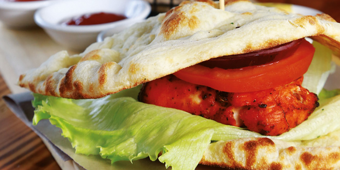 Tandoori Chicken Naan Burger at KALTURE Cafe & Resto, Jakarta