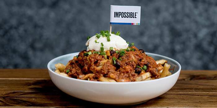 Impossible Chilli Cheese Fries from Oriole Coffee + Bar at Pan Pacific Serviced Suites in Orchard, Singapore