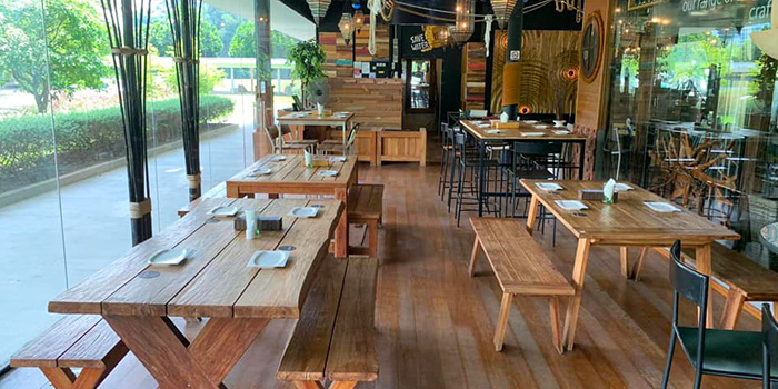 Interior of Basil & Thyme in East Coast, Singapore