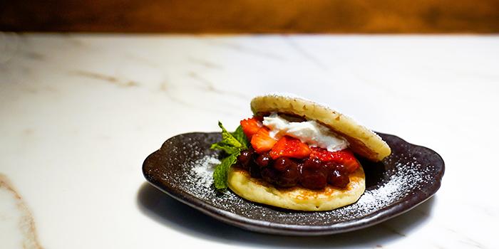 Amao Strawberry Dorayaki from Bincho at Min Jiang in Dempsey, Singapore