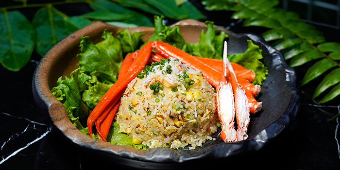 Snow Crab Fried Rice from Bincho at Min Jiang in Dempsey, Singapore