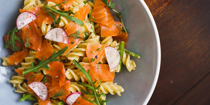 Salmon Pasta from Cheeky in Chinatown, Singapore