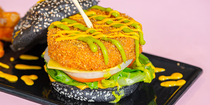 Verduras Burger from Cuba Libre Cafe & Bar (Frasers Tower) in Tanjong Pagar, Singapore