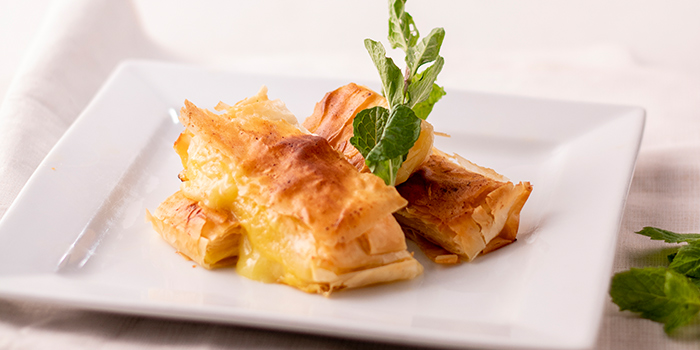Warm Durian Filo from JÙN Restaurant at Capri by Fraser, China Square in Chinatown, Singapore