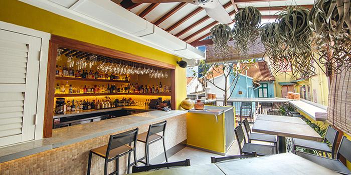 Interior of Kafe Utu in Chinatown, Singapore