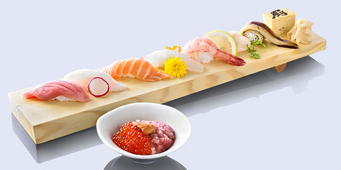 Nigiri Sushi Assortment from Kuriya Dining in River Valley, Singapore