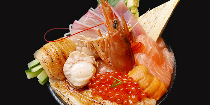 Kaisen Chirasi Bowl from Maru Japanese Restaurant at ICON Village in Tanjong Pagar, Singapore