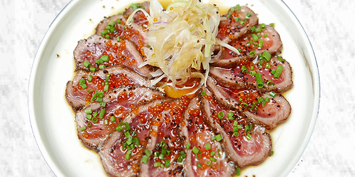 Truffle Beef Carpaccio from Maru Japanese Restaurant at ICON Village in Tanjong Pagar, Singapore