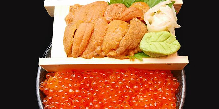 Uni Ikura from Maru Japanese Restaurant at ICON Village in Tanjong Pagar, Singapore
