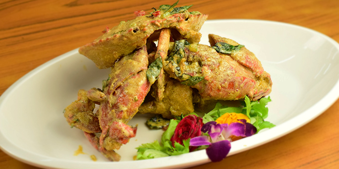 Salted Egg Crab from Melben Seafood Restaurant at Market Square @ Downtown East E!Avenue in Pasir Ris, Singapore