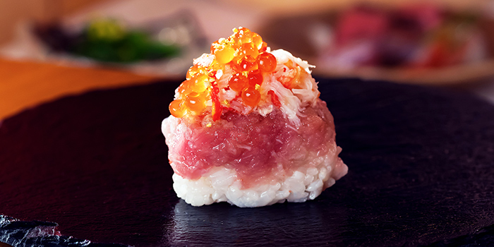 Kani Toro Ikura Sushi from Minka at Oxley Tower in Telok Ayer, Singapore