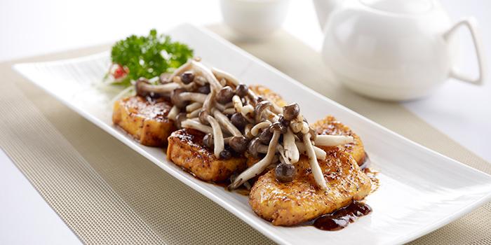 Black Pepper Beancurd with Shimeji Mushrooms from Oceanspoon Dining (Sembawang Country Club) in Sembawang, Singapore