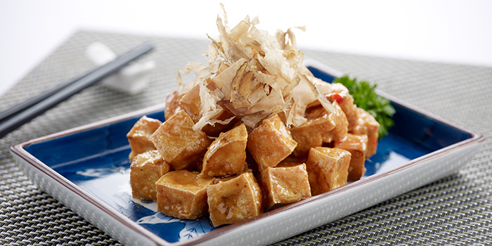 Crispy Beancurd with Bonito Flakes from Oceanspoon Dining (Sembawang Country Club) in Sembawang, Singapore