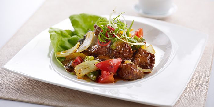 Stir Fried Beef Cubes with Mongolian Sauce from Oceanspoon Dining (Sembawang Country Club) in Sembawang, Singapore