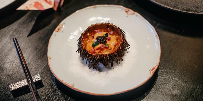Cauliflower Puree with Sea Urchin and Caviar from RIZU Modern Japanese Cuisine in Duxton, Singapore