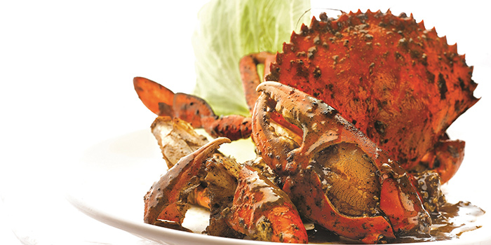 Pepper Crab from Singapore Seafood Republic at Resorts World Sentosa in Sentosa, Singapore