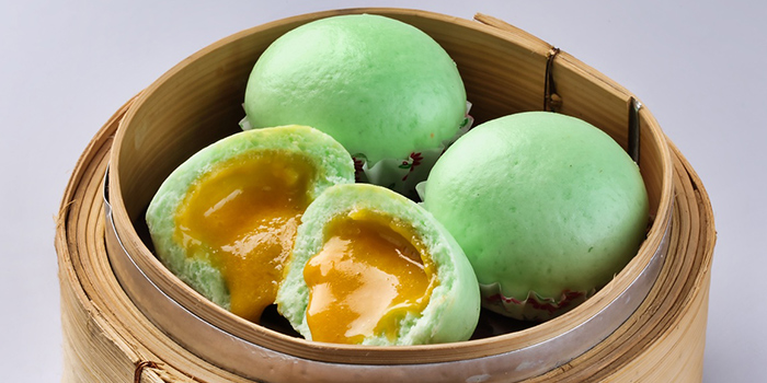 Custard Buns w Salted Egg from Spring Court in Chinatown, Singapore