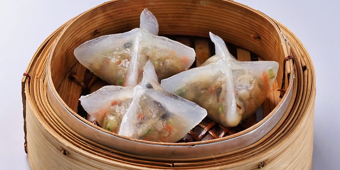 Steamed Vegetarian Crystal Dumpling from Spring Court in Chinatown, Singapore