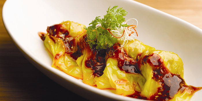 Wanton Tossed in Chilli Oil from Szechuan Kitchen at Fairmont Singapore in City Hall, Singapore