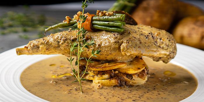 Rabbit Leg in Mustard Sauce from Taratata Brasserie serving French cuisine in Chinatown, Singapore