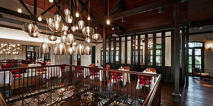 Interior of UNA at The Alkaff Mansion in Telok Blangah, Singapore