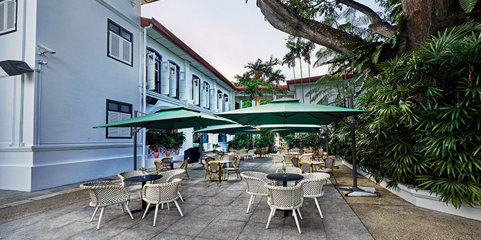 Exterior of Wildseed Cafe at The Alkaff Mansion in Telok Blangah, Singapore