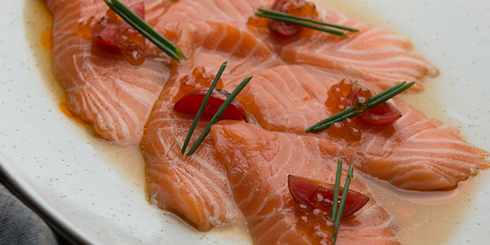 Salmon Carpaccio, Glasshouse (IFC), Central, Hong Kong