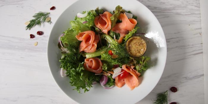 Salmon Salad from The H Cafe by Khaniece at 279 Soi Ramindra65 Khwaeng Tha Raeng, Khet Bang Khen Bangkok