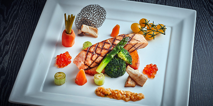 Salmon Steak, Monkey Cafe, Wan Chai, Hong Kong