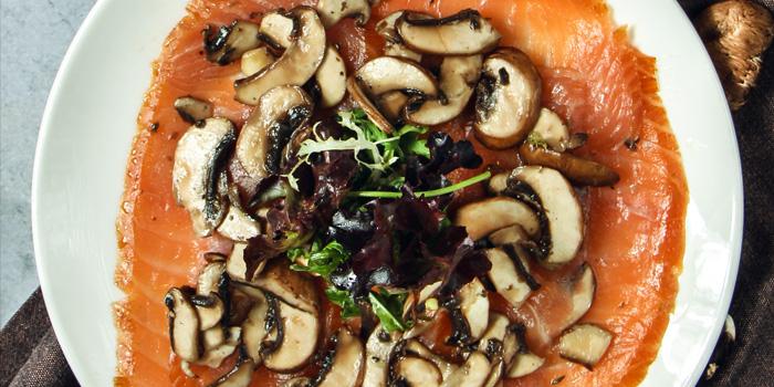 Smoked Salmon and Mushroom Carpaccio, Bungalow, Lan Kwai Fong, Hong Kong