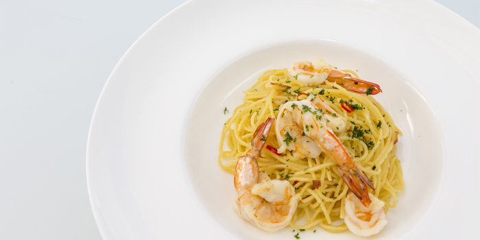 Spaghetti Anglio EOlio from Oceanfront Restaurant in Kok-Tanode Road Karon Muang Phuket, Thailand