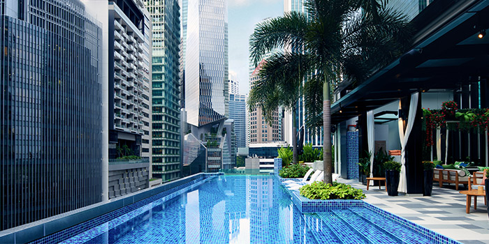 Swimming Pool of 1927 at SO Sofitel Singapore in Raffles Place, Singapore
