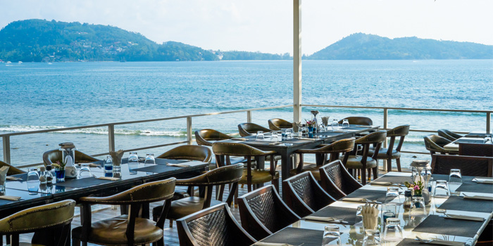 Before sunset from White Box Restaurant in Patong, Kathu, Phuket, Thailand